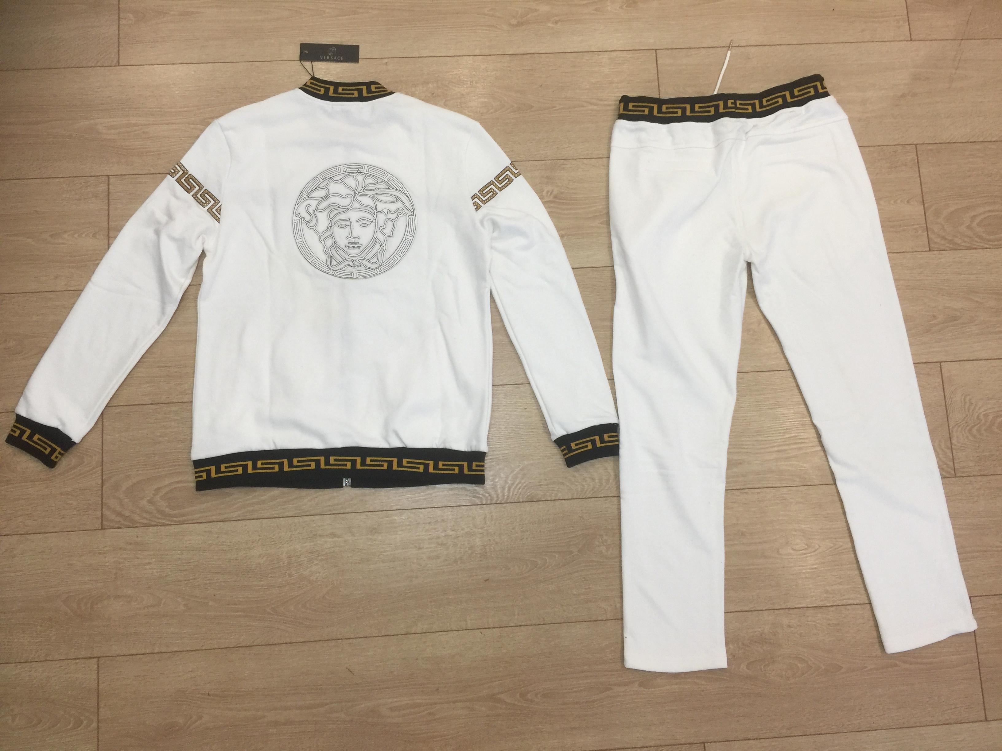 Белый мужской спорт костюм Версаче