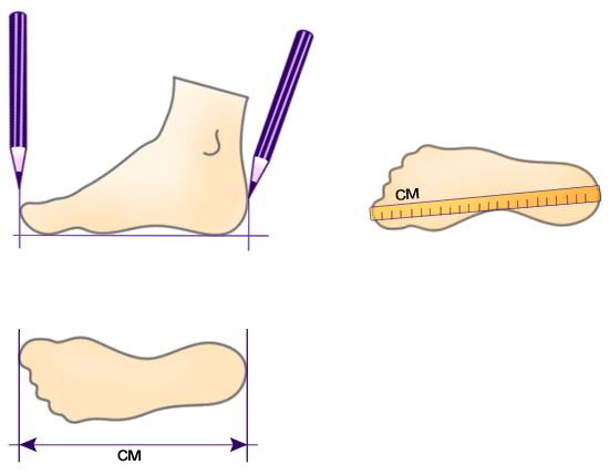 как измерить размер ноги