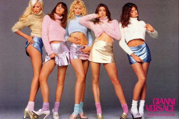 Девушки Модели Versace